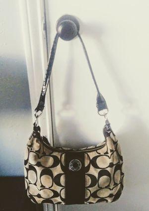 Coach Hobo Handbag bag purse Signature Logo Black for Sale in Dallas, TX