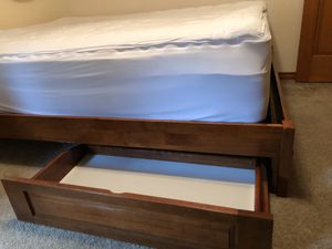 Queen bed frame and mattress for Sale in Amboy, WA