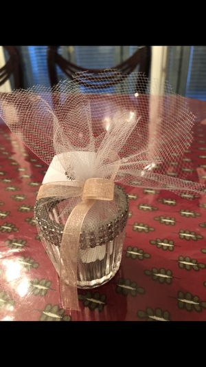 Wedding candle party favor with ribbon for Sale in Downers Grove, IL