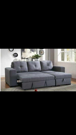 SECTIONAL SOFA COUCH W STORAGE IN THE CHAISE NEW IN BOX SOFA CAMA NUEVO for Sale in Newark, NJ