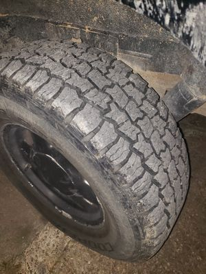 GMC stocks cooper A/T good thread Trade for rims for Sale in Houston, TX