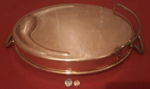 """Vintage Copper and Brass Metal Pan, Pot, Super Heavy Duty, Made in Italy, 20"""" Long Handle to Handle, 16"""" x 12"""" x 2 1/4"""" Pan Size, Made in Italy for Sale in Lakeside, CA"""