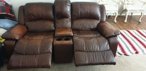 Sofa and loveseat used both recliner leather for Sale in Corona, CA