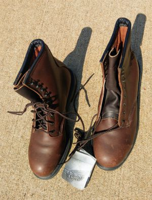 Work boots by Red Wing Shoes. Size 9 D for Sale in Quincy, MA