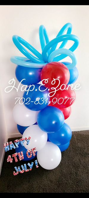 4th of July Balloon Column Party Decor for Sale in Las Vegas, NV