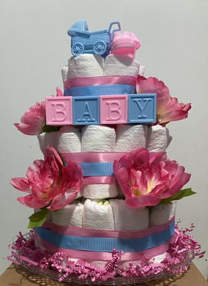 Newborn diaper cake for Sale in Falls Church, VA