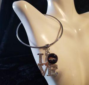 Denver bronco love charm bangle bracelet for Sale in Aurora, CO