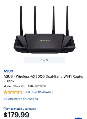 Asus wireless-AX3000 dual-band WiFi router for Sale in Moreno Valley, CA