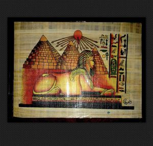 Authentic Egyptian art on papyrus plant paper for Sale in Centreville, VA