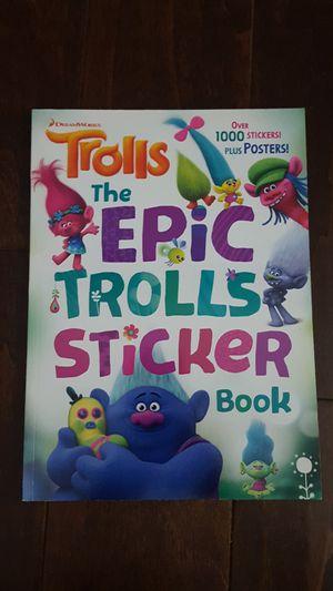 Trolls epic sticker book for Sale in Jurupa Valley, CA