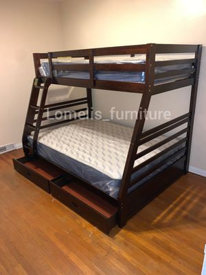 Twin/full bunk beds with mattresses included q for Sale in Hawthorne, CA
