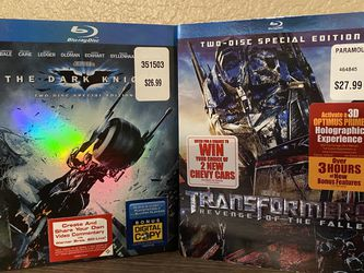 Revenge Of The Fallen and The Dark Knight Special Edition Blu-rays for Sale in Scottsdale,  AZ
