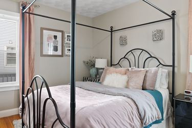Wrought Iron Queen Canopy Bedframe for Sale in Boston,  MA