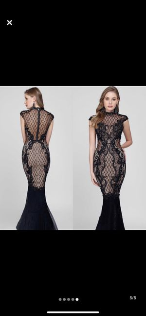 Jovani prom homecoming mermaid lace beaded dress for Sale in Queens, NY
