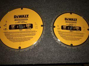 New Dewalt saw blades for Sale in San Angelo, TX