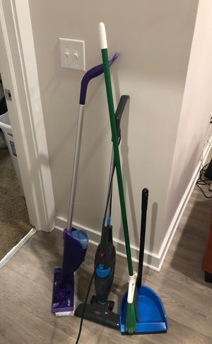 Broom swiffer mop vacuum bissell Cleaning supplies for Sale in Durham, NC