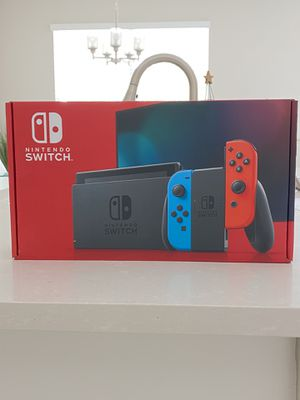 Brand New Nintendo Switch Neon Blue and Red Joy Cons V2 Newest Version for Sale in Germantown, MD
