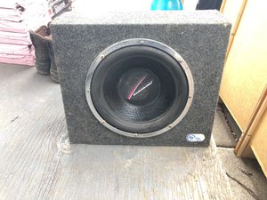 """Nice subwoofer 15 x 18 box and subwoofer 12"""" for Sale in Silver Spring, MD"""