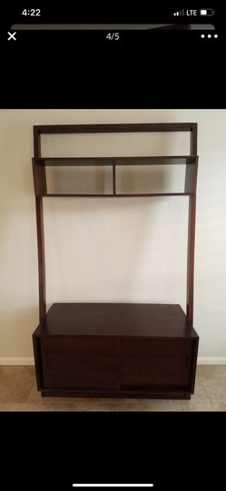 Like new Crate and Barrel Sloane Leaning Media Stand Entertainment Center for Sale in Scottsdale,  AZ