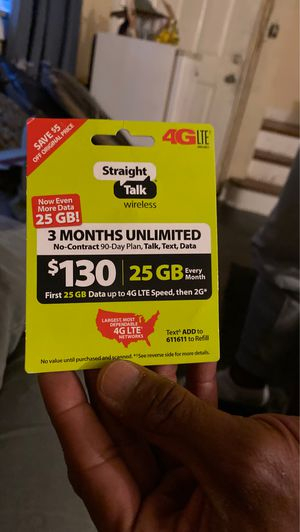 3 months Straight Talk unlimited Wireless for Sale in Columbia, SC