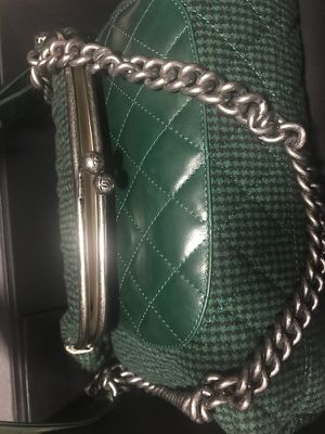 Rare Authentic Chanel Flap/Change purse style bage $3500 must sell asap green xmas savings for Sale in New York, NY