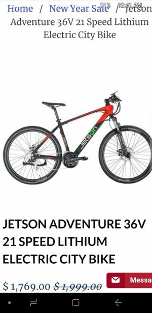 Jetson Electric Bycicle for Sale in Oceanside, CA