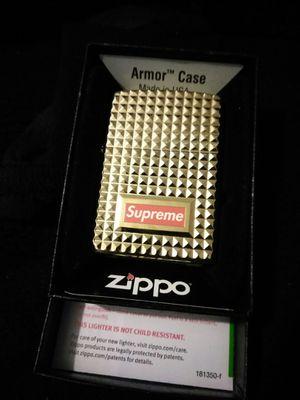 Supreme Zippo (diamond cut) gold for Sale in West Covina, CA