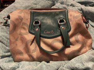 Coach purse green and brown super cute ! for Sale in Spokane, WA