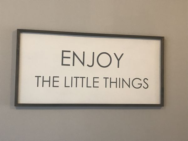 Enjoy the little things large picture
