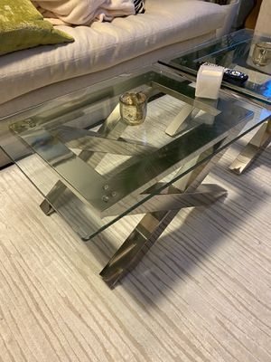 Glass coffee table (2 available) for Sale in Jersey City, NJ