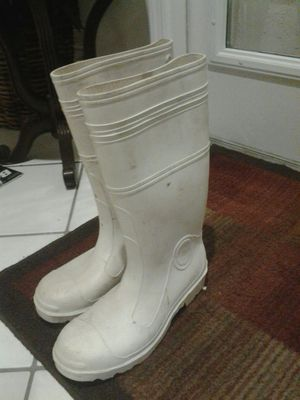 Mens size 11 water proof work boots used once.like new boat marine boating for Sale in Pompano Beach, FL