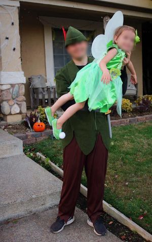 Peter Pan costume and Tinkerbell for Sale in Elk Grove, CA