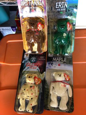 TY Beanie Babies Britannia Glory Erin Maple with Errors McDonalds Set of 4 for Sale in Lacey, WA