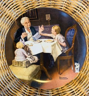 """Vintage 1984 Knowles Norman Rockwell """"The Gourmet"""" Collectible Plate for Sale in Aurora, IL"""