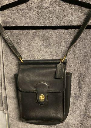 COACH black leather purse for Sale in Chicago, IL