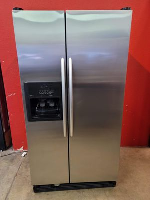 Kitchen aid stainless steel fridge good working conditions for $149 more like a garage fridge for Sale in Wheat Ridge, CO