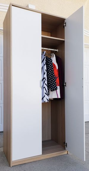 NEAR NEW IKEA Double 2 Door Doors Wardrobe Closet Storage Organizer Unit Stand Cabinet + 1 Clothes Rod INCLUDED for Sale in Monterey Park, CA