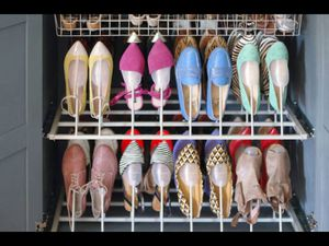 Built in Closet SHOE ORGANIZER Pulls out for easy access for Sale in Diamond Bar, CA