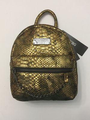 Bcbg gold faux snakeskin backpack purse for Sale in Brandon, FL