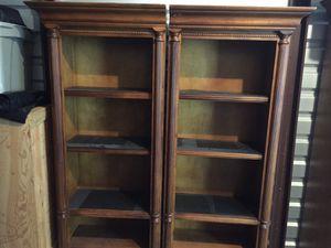 3 piece brown book shelves for Sale in Midlothian, VA