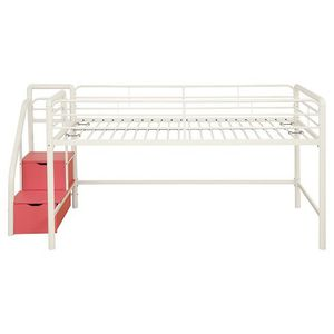 Twin loft bed with storage steps for Sale in Sophia, NC