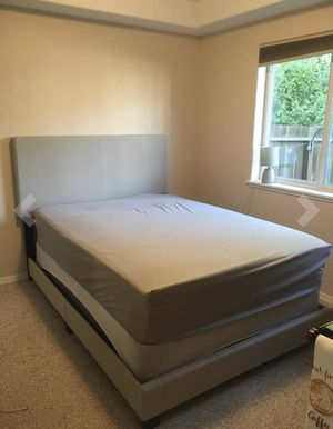 Gray bed frames new in the box with mattresses FREE DELIVERY 🚚. Twin 245$ full size 275 queen size 285$ for Sale in Hollywood, FL