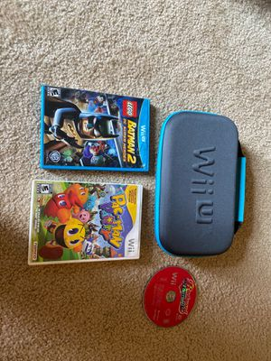 Wii U Touchpad case and three games for Sale in Tigard, OR