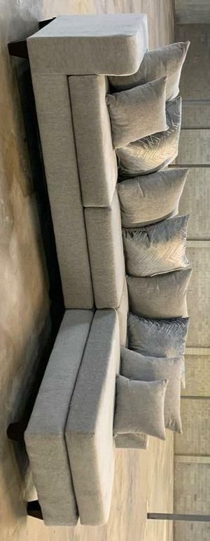Dora sectional sofa dove for Sale in Houston, TX
