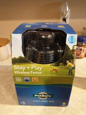 Pet safe stay & play wireless dog fence for Sale in Lehi, UT