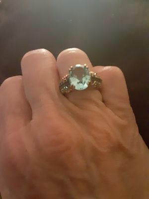 Blue stone ring in beautiful goldtone setting for Sale in PT CHARLOTTE, FL