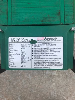 Coleman generator 4000 W for Sale in Choctaw, OK