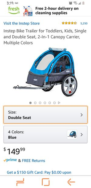 Instep bike trailer for 2 kids for Sale in Chula Vista, CA