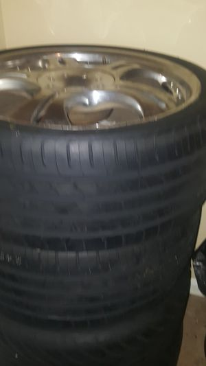 Nice furniture 20 inch rims for sale Chrome brand new tires never been on the road for Sale in Augusta, GA