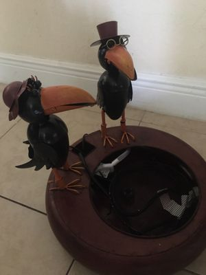Lighted Crow water fountain - open box for Sale in Pinellas Park, FL